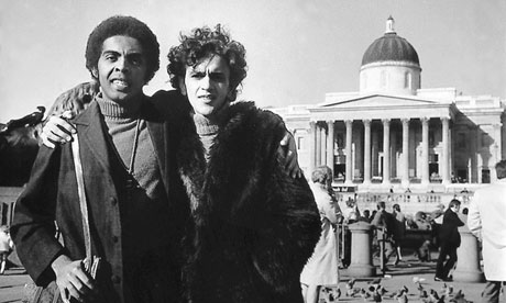 Gilberto Gil and Caetano Veloso in Trafalgar Square in 1969