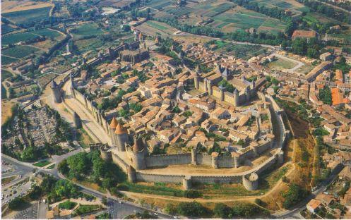 Carcassonne - Vue aerienne (2)